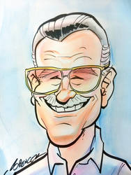 Stan Lee Caricature by spencertoons
