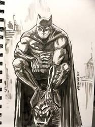 Batman ink sketch by spencertoons