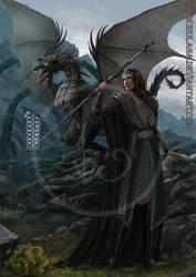 Sorceror and Dragon by Irulana