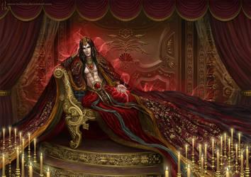 Dark Lord in harem chamber by Irulana