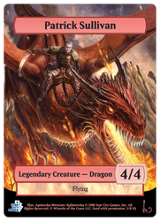 MTG Token - Red Dragon by Irulana