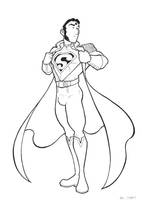 Edwardian-ish Superman by BevisMusson