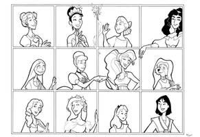 Disney Ladies 2 by BevisMusson