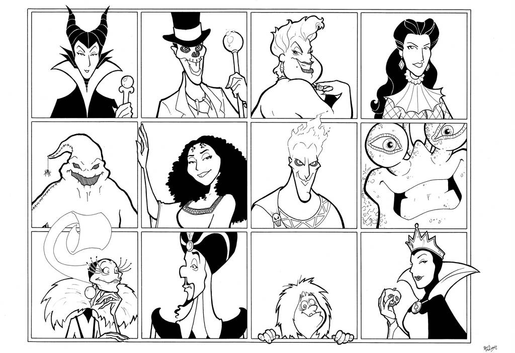 Disney Villains 2 by BevisMusson