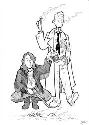 Wynonna Earp and John Constantine by BevisMusson