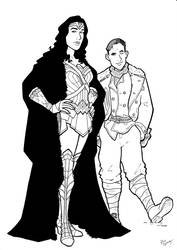 Diana And Steve Inks by BevisMusson