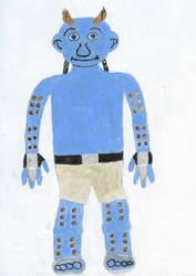 Spiky Smurf Painting by DrFrankensmurf