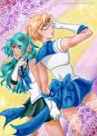 Uranus and Neptune by ladylaguna