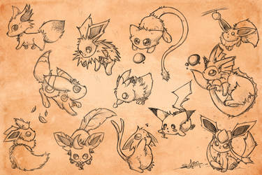 Sketchy Pokemon Adop Wallpaper by NezuPanda