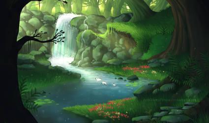 Commission - A Dense Jungle by NezuPanda