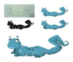 Vector art - Salamandurrr by NezuPanda