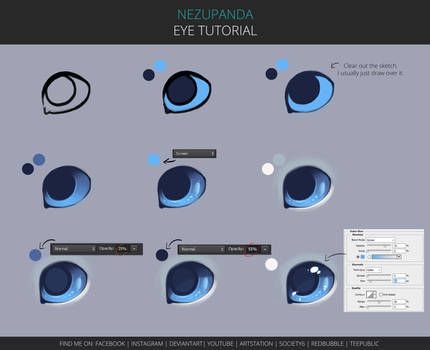 Eye tutorial by NezuPanda