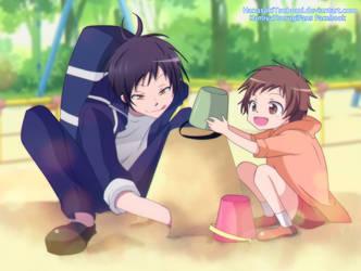 Tsurugi y Mahiru by HanasakiTsubomi
