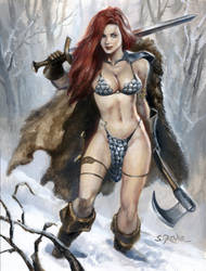 Red Sonja by sebastien-grenier