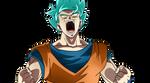 Goku ssb by AhmadEdrees