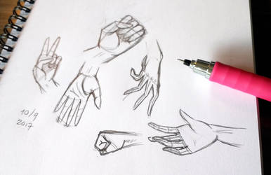 Study of hands - Sketchtember day #2 by RazorCheeks