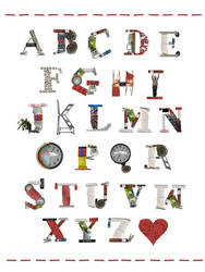 library alphabet by Kittencaboodles