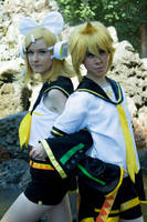 Rin and Len Kagamine by MFM-Photography