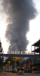 Universal Studios in Flame by jekor