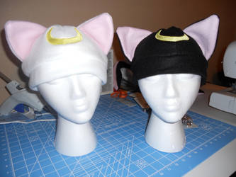 Luna and Artemis Fleece Hats by LethalPepsi