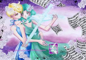 Haruka X Michiru ( Princess Uranus / Neptune) by SilverSerenity1983