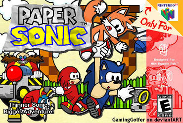 Paper Sonic Box Art by GamingGolfer