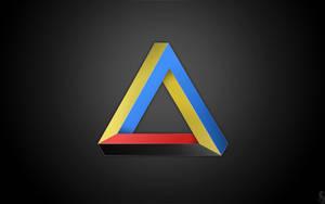 Ukraine triangle. Dark by BogdanYaremak