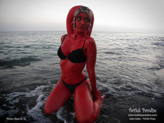 Lethan twi'leks go to beach in twi'light by TwilekParadise