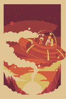 Magic flying saucer ride by Dillon-Okeefe