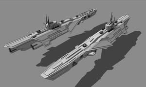 CHAMPION-class Frigate by TheOrangeGuy