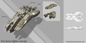 Very heavy spaceship concept by DmitryEp18
