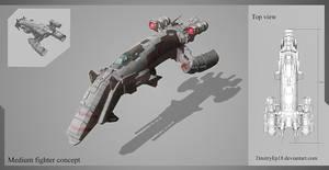 Medium fighter concept by DmitryEp18