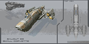 Saliout 28 small corvette by DmitryEp18