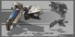 NS 1 Heavy fighter concept by DmitryEp18