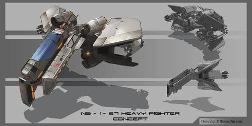 NS 1 Heavy fighter concept by DmitryEp18