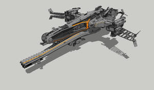 WIP spaceship by DmitryEp18