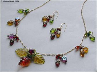Nokomis Necklace and Earrings by manson-brown