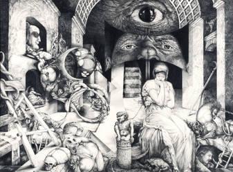 VINDOBONA ALTARPIECE - SNAKES AND LADDERS by ArtOfTheMystic