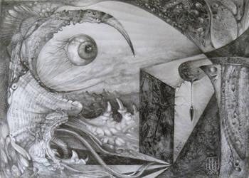 DAS UNERNSTLICH SCHWEIGENDE AUGE by ArtOfTheMystic