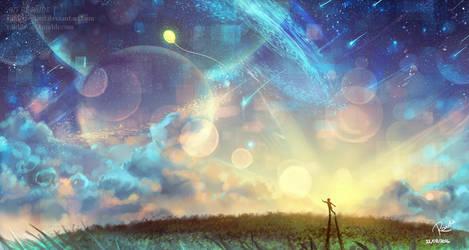The Yellow Balloon | Speedpaint by RaidesArt