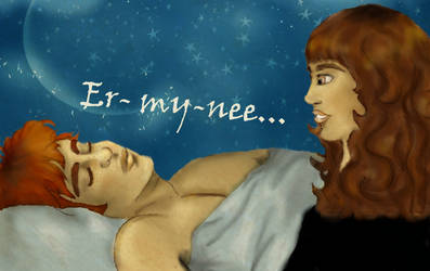 Er-my-nee, HBP ch.19, blue vs by louloudia1983
