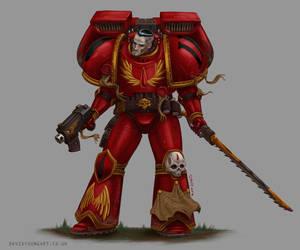 Blood Angels Assault Marine by Davy-Art