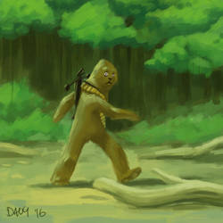 Big foot! by Davy-Art