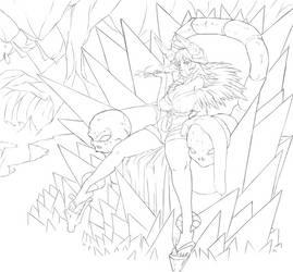Line Art: Hell Queen by Nehis