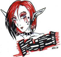 small gift art for Kurai by Mintowolf