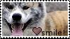 Smile Akita Inu Stamp by Kitten-Kubb