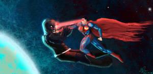 Superman Vs Darkseid by burning7ducks