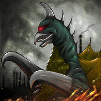 70s heros and villians Gigan by gfan2332
