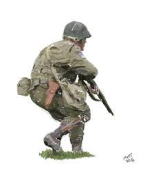 World War II US Soldier by Mattwhiteart