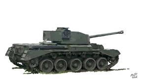 WW2 Comet Tank by Mattwhiteart